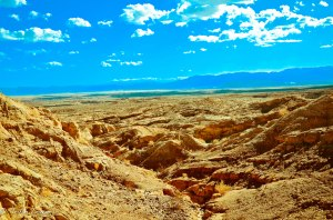 calcite mine trail - looking into anza borrego
